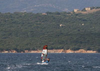 école de windsurf, Bonifacio