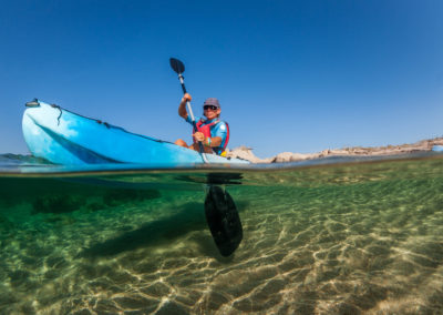 location- kayak, La Tonnara, Bonifacio